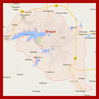 BHOPAL ROAD MAP